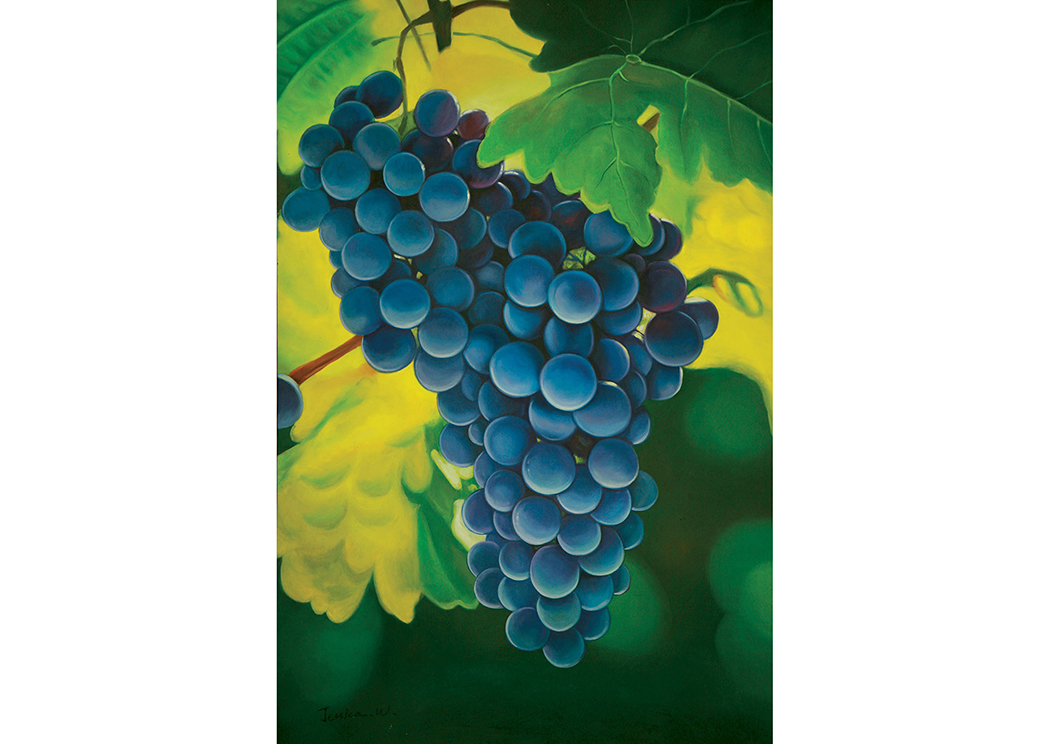 Grapes Printed Canvas Painting,Furniture of America