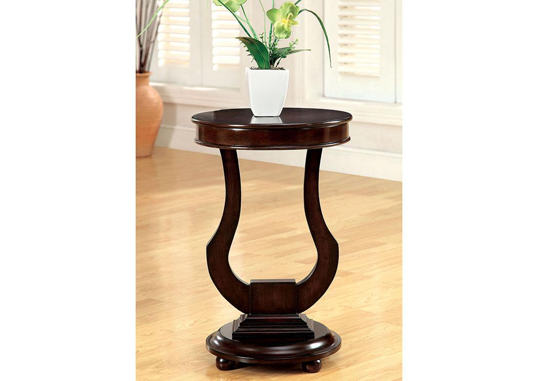alda bell shape design side table furniture of america