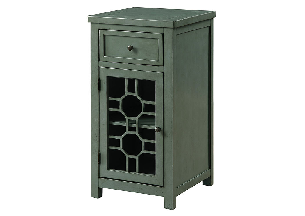 Killeen Teal Chairside Table,Furniture of America