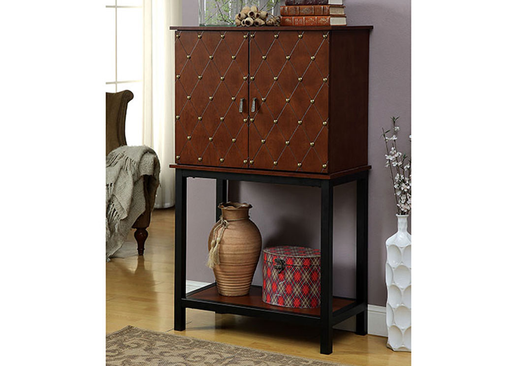 Catlin Cherry Wine Cabinet,Furniture of America TX