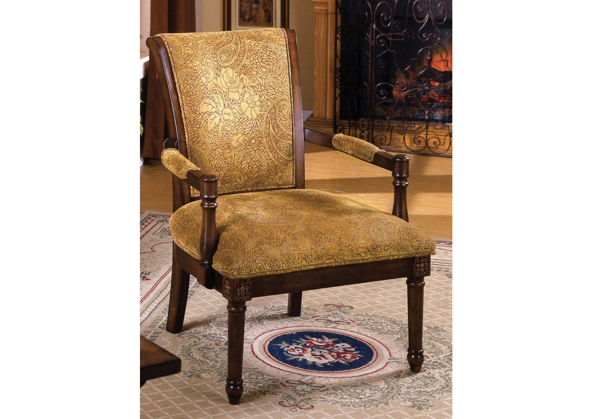 Stupendous 252982 Stockton Rustic Fabric Pattern Accent Chair W Hand Unemploymentrelief Wooden Chair Designs For Living Room Unemploymentrelieforg