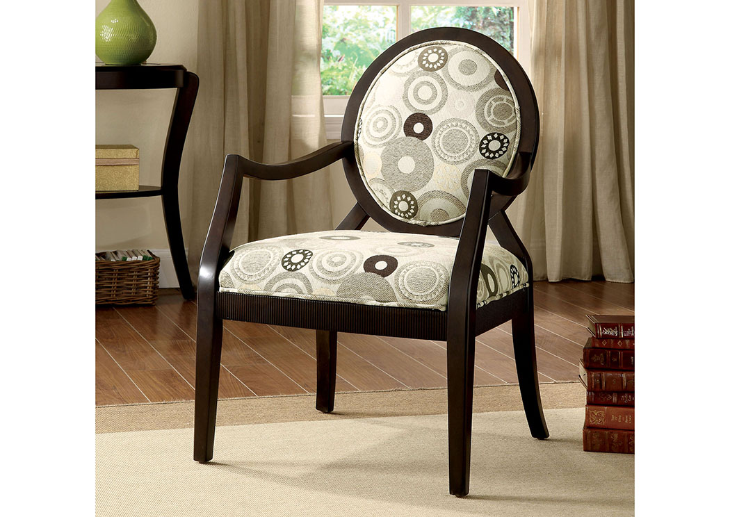 King's Furniture Warehouse Cairns ll Circular Pattern Accent Chair w