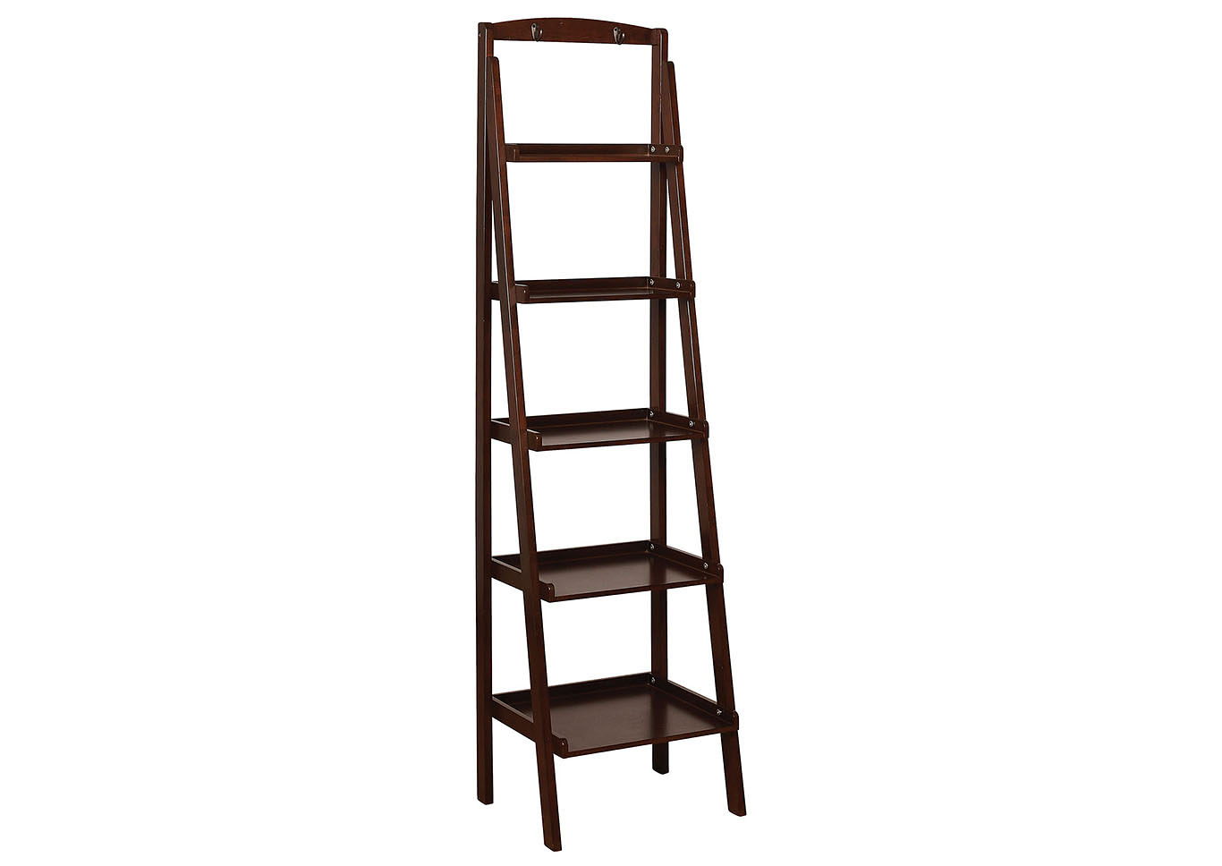 Theron Espresso 5-Tier Ladder Shelf,Furniture of America