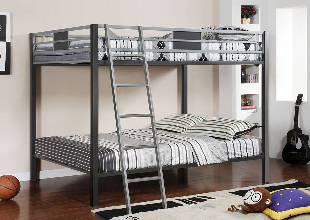Furniture Fashions Cletis Full Metal Bunk Bed W Trundle