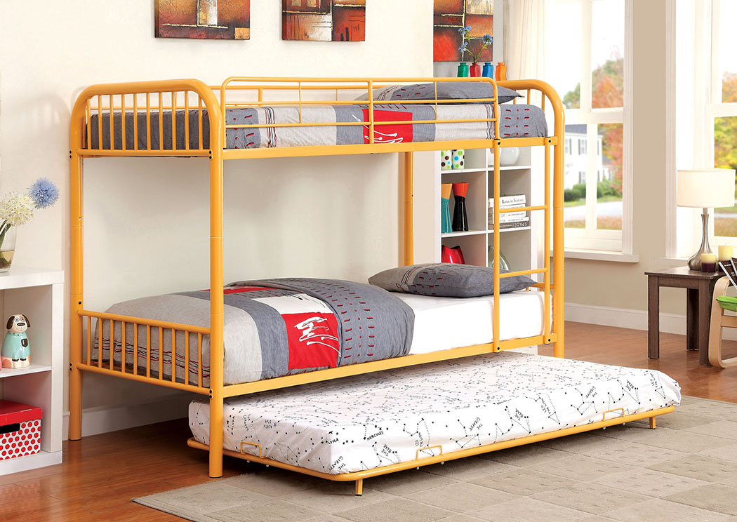 Rainbow Orange Twin Metal Bunk Bed,Furniture of America