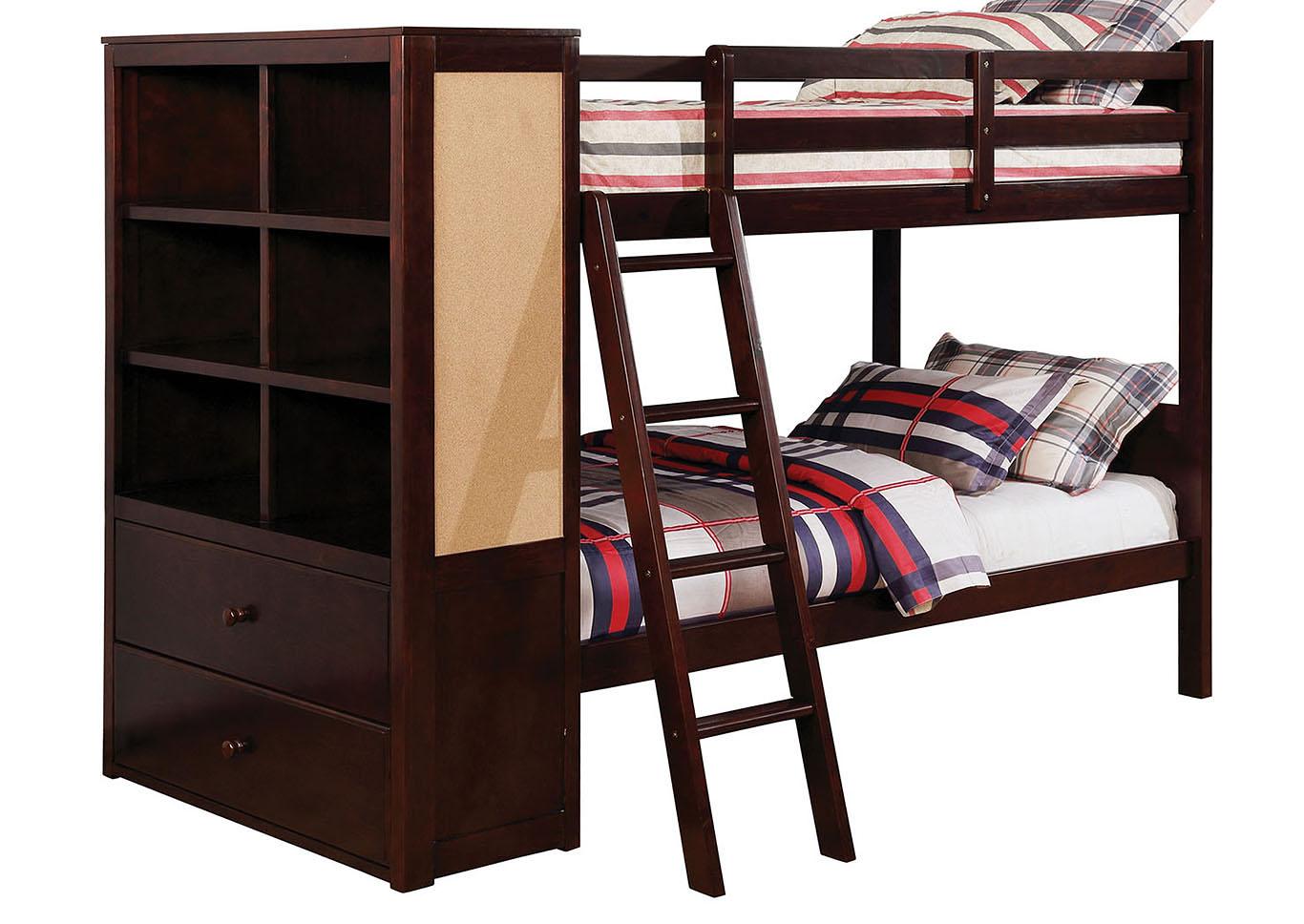 Fantastic Foothills Family Furniture Athena Dark Walnut Twin Twin Bunk Bed Creativecarmelina Interior Chair Design Creativecarmelinacom