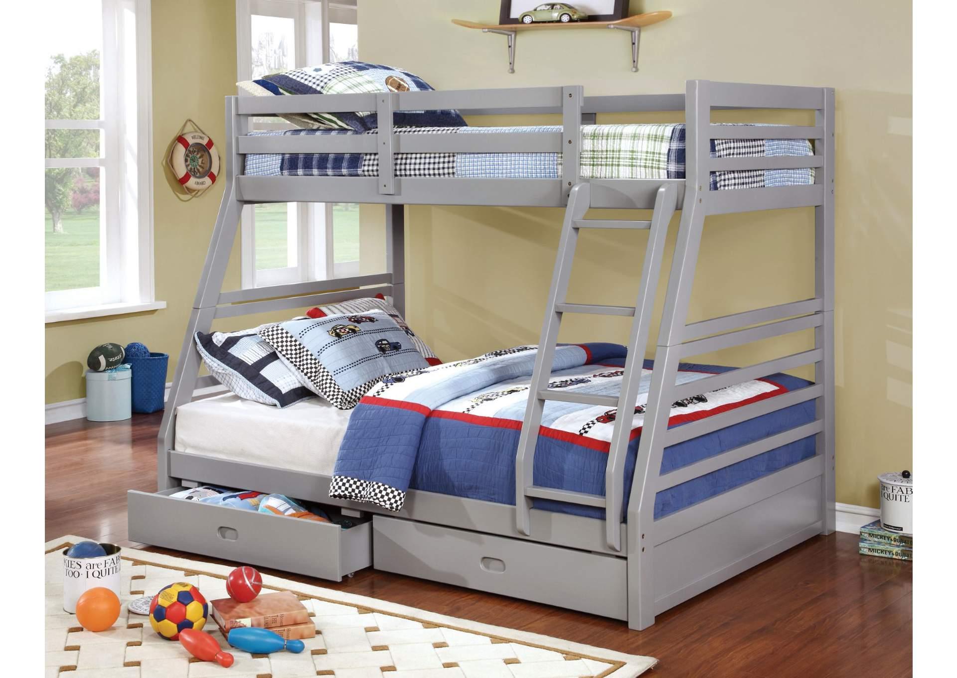 D N Furniture Scranton Pa California Iii Gray Twin Full Bunk Bed