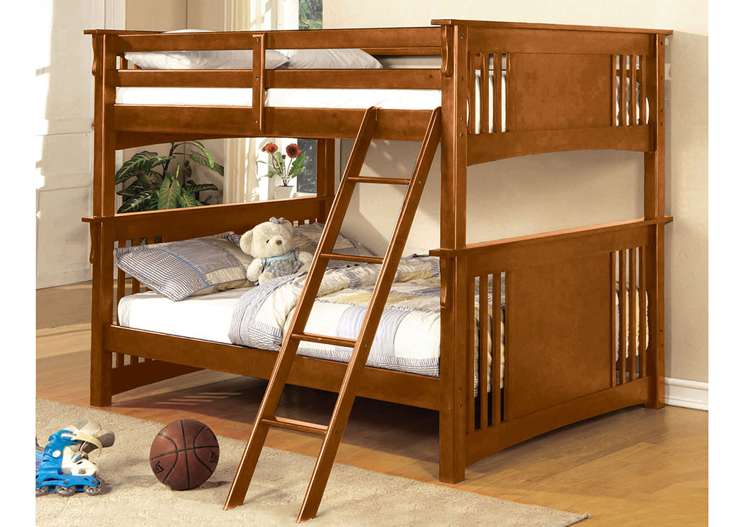 Spring Creek Oak Full Bunk Bed,Furniture of America