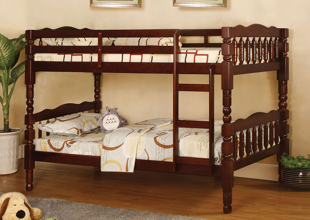 Choice Furniture Catalina Cherry Twin Bunk Bed W Dresser And Mirror