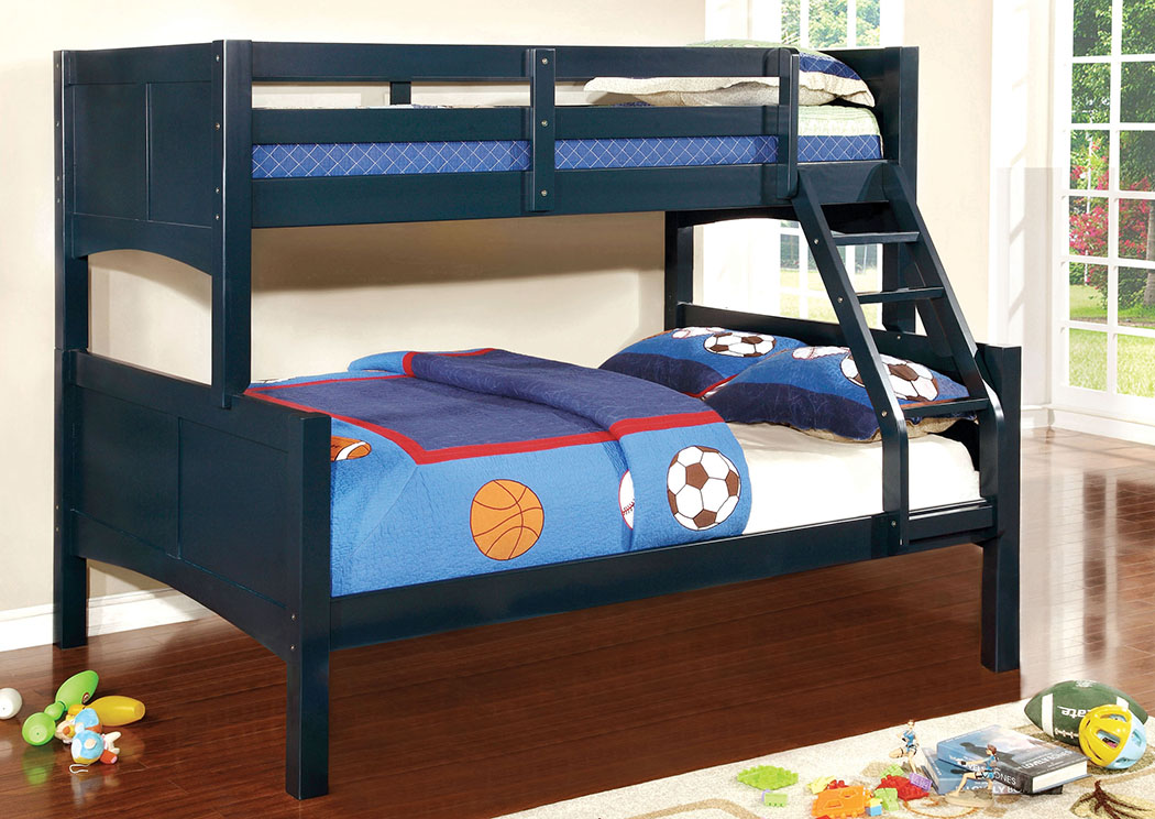 Prismo ll Blue Full Bunk Bed,Furniture of America
