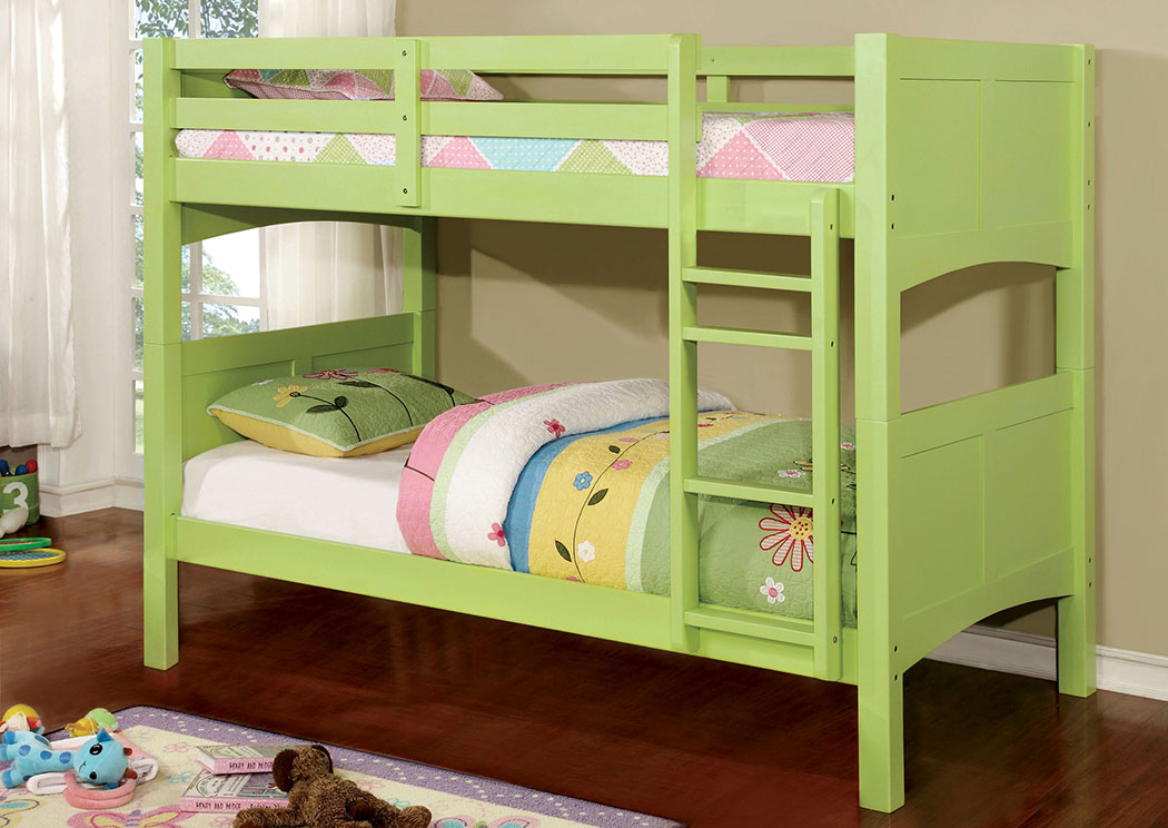 Prismo ll Green Twin Bunk Bed,Furniture of America