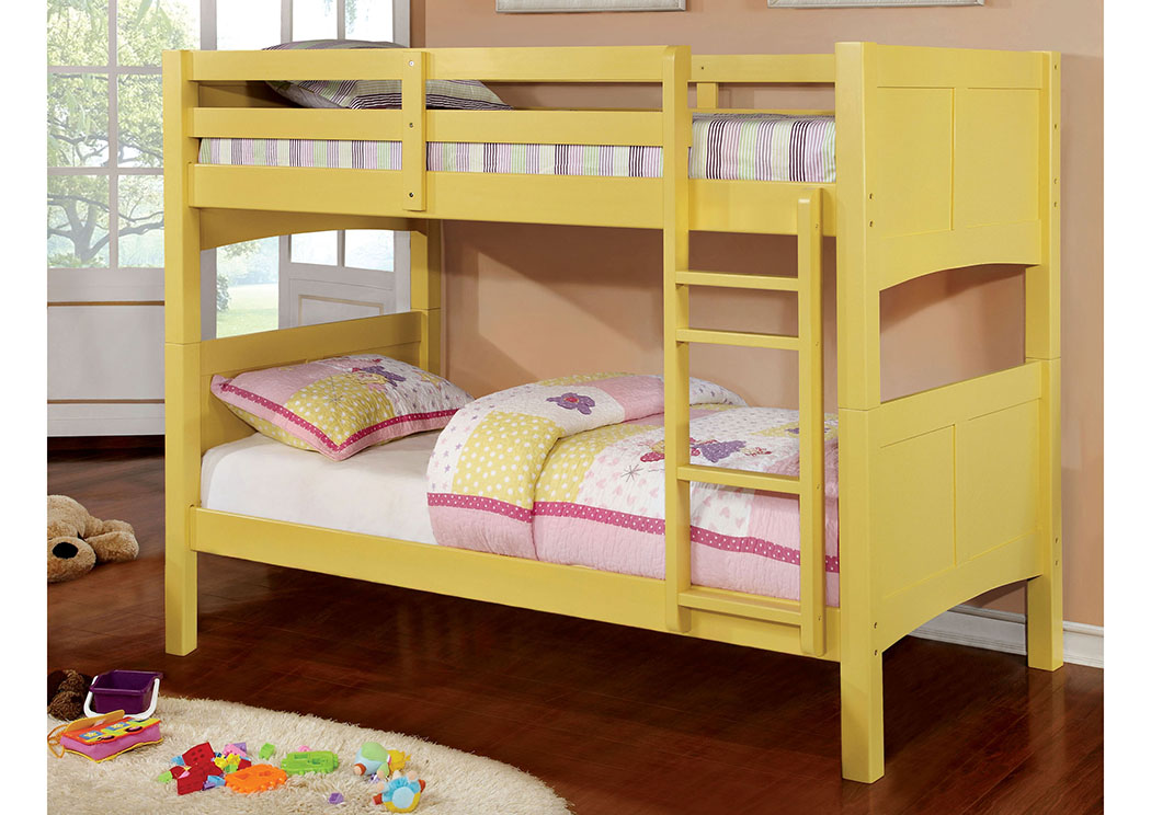 Prismo ll Yellow Full Bunk Bed,Furniture of America
