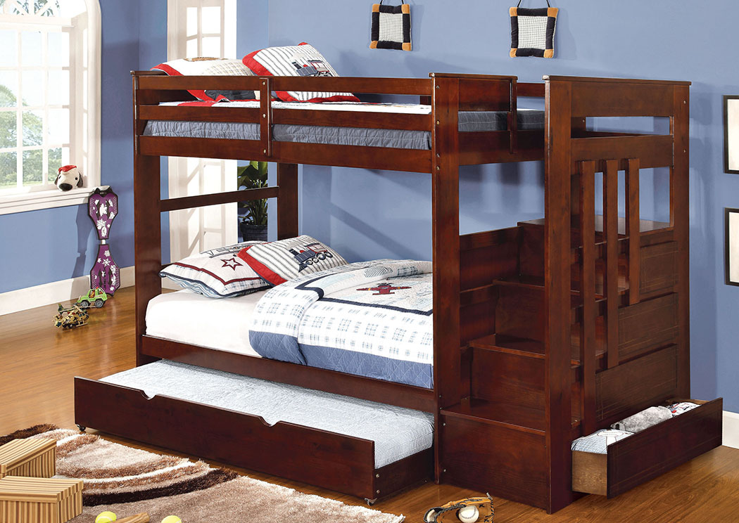 Woodridge Twin Bunk Bed,Furniture of America