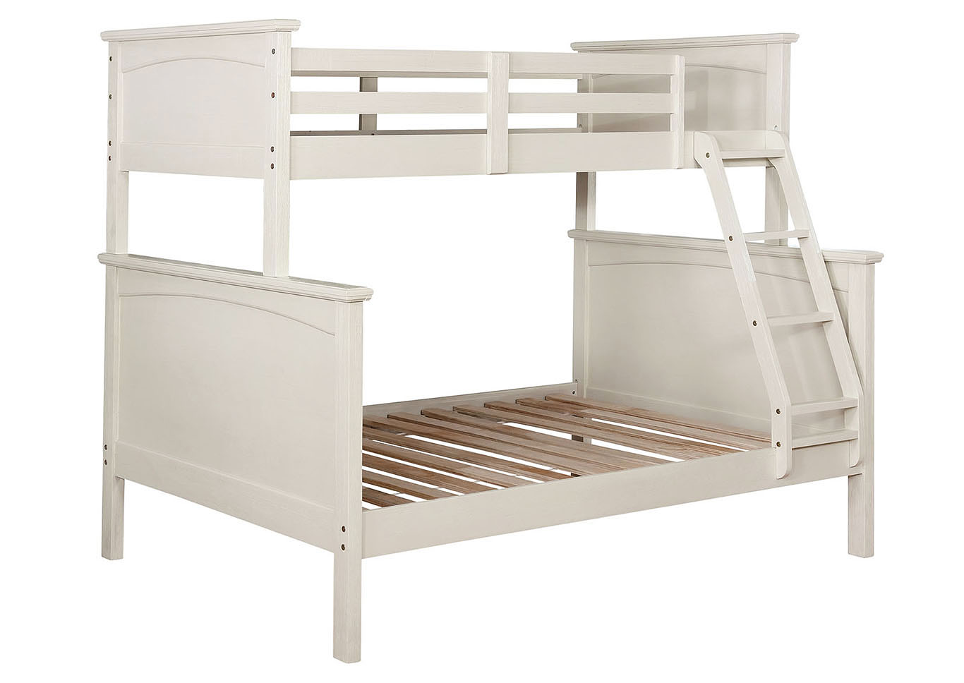 Marci White Twin/Full Bunk Bed,Furniture of America