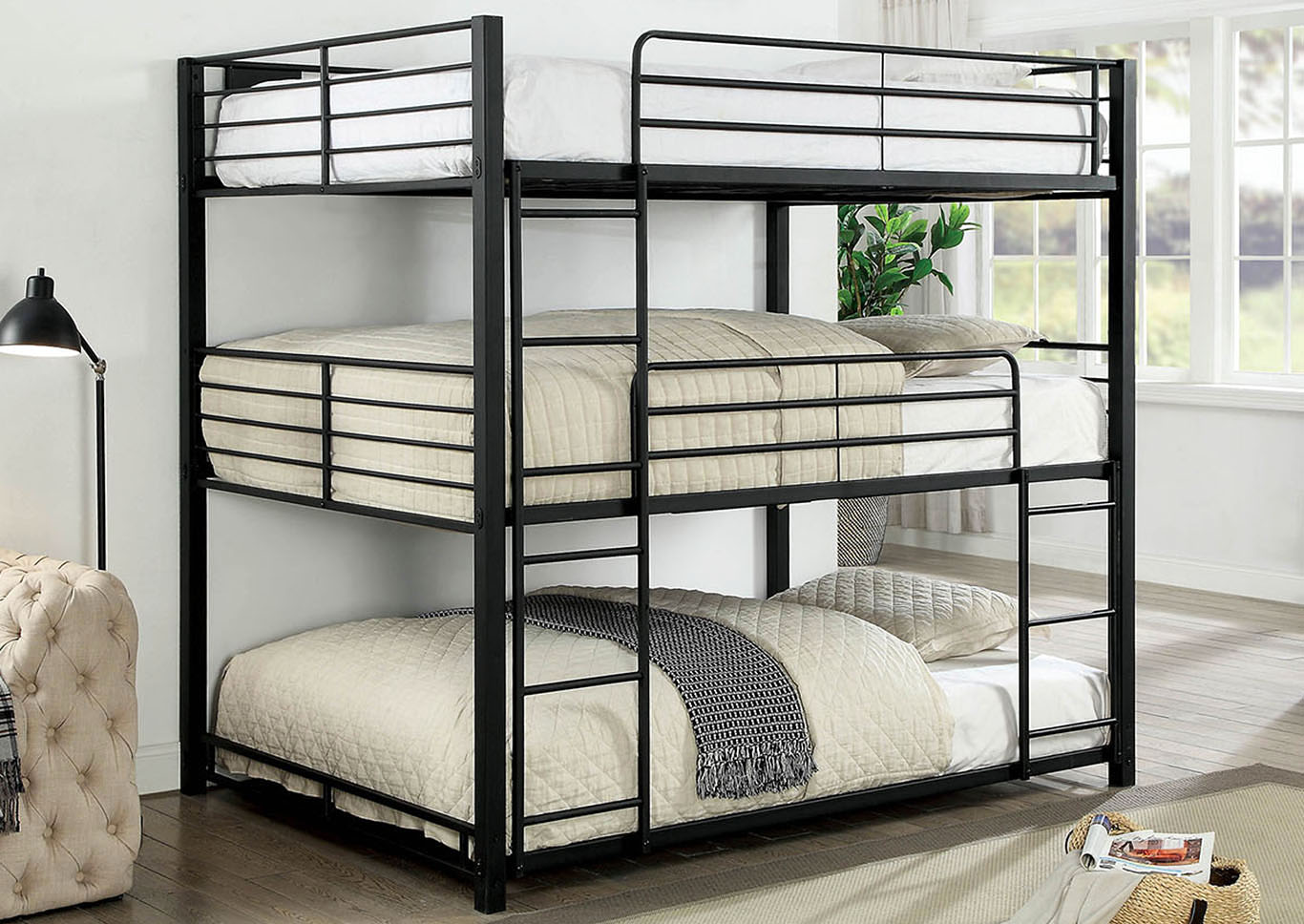 Olga Full Triple Decker Bed,Furniture of America