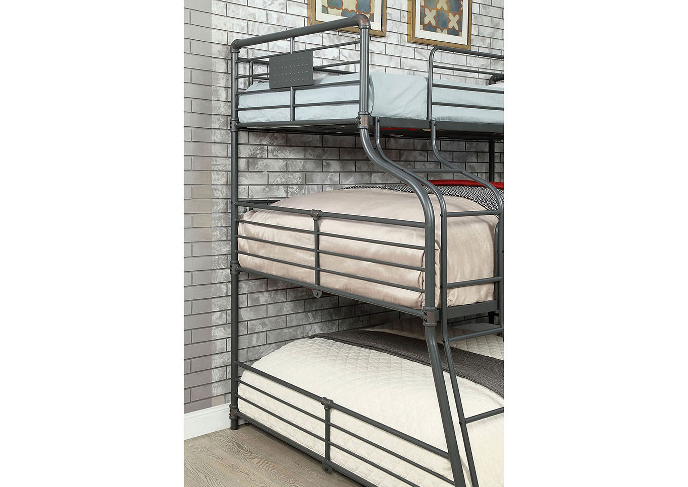 Olga III Sand Black Twin/Full/Queen Bunk Bed,Furniture of America