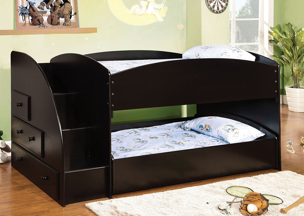Kensington Furniture Merritt Black Twin Bunk Bed