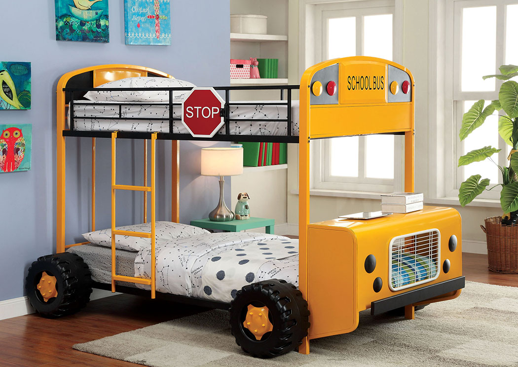 Field Tripper ll Twin Metal Bunk Bed,Furniture of America