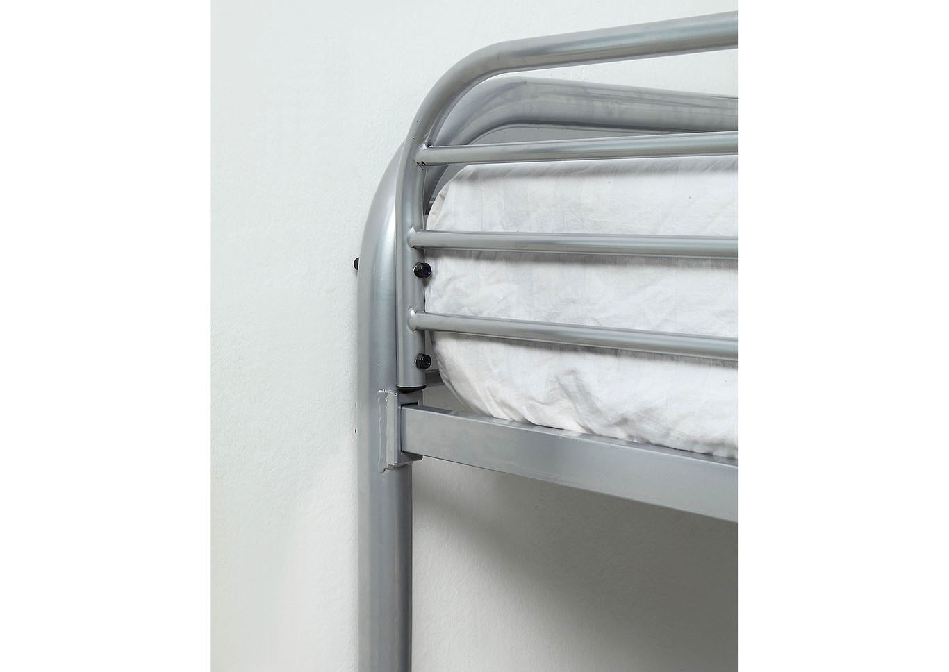 Opal Silver Full/Full Metal Bunk Bed,Furniture of America