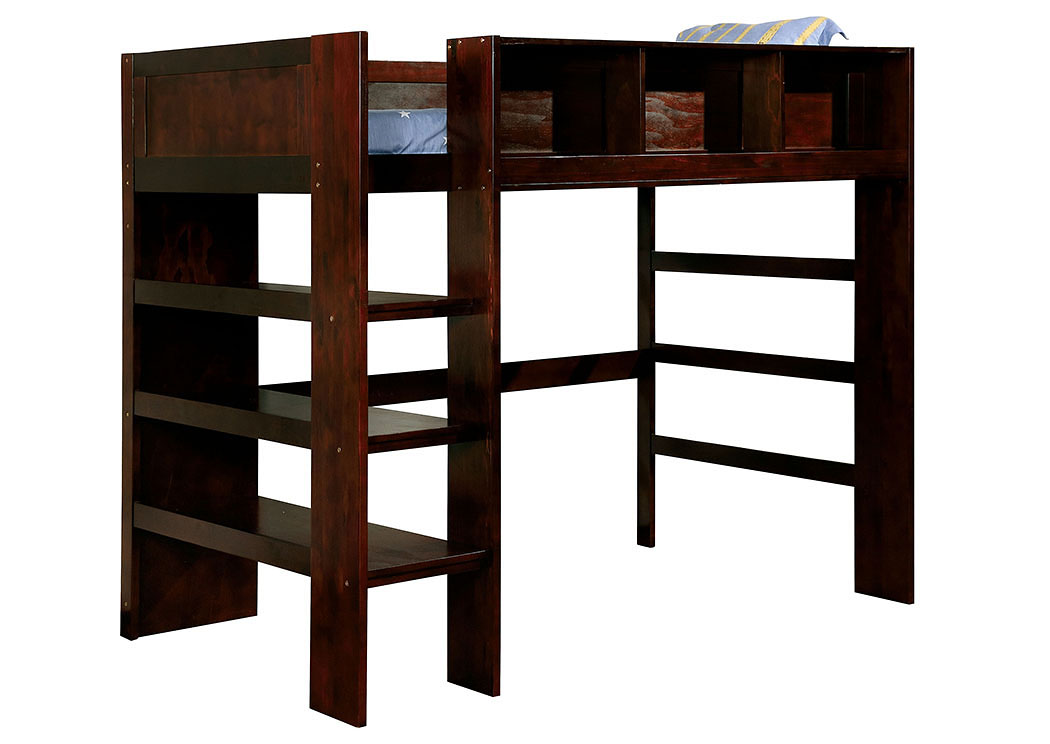 Annemarie Espresso Twin Loft Bed,Furniture of America