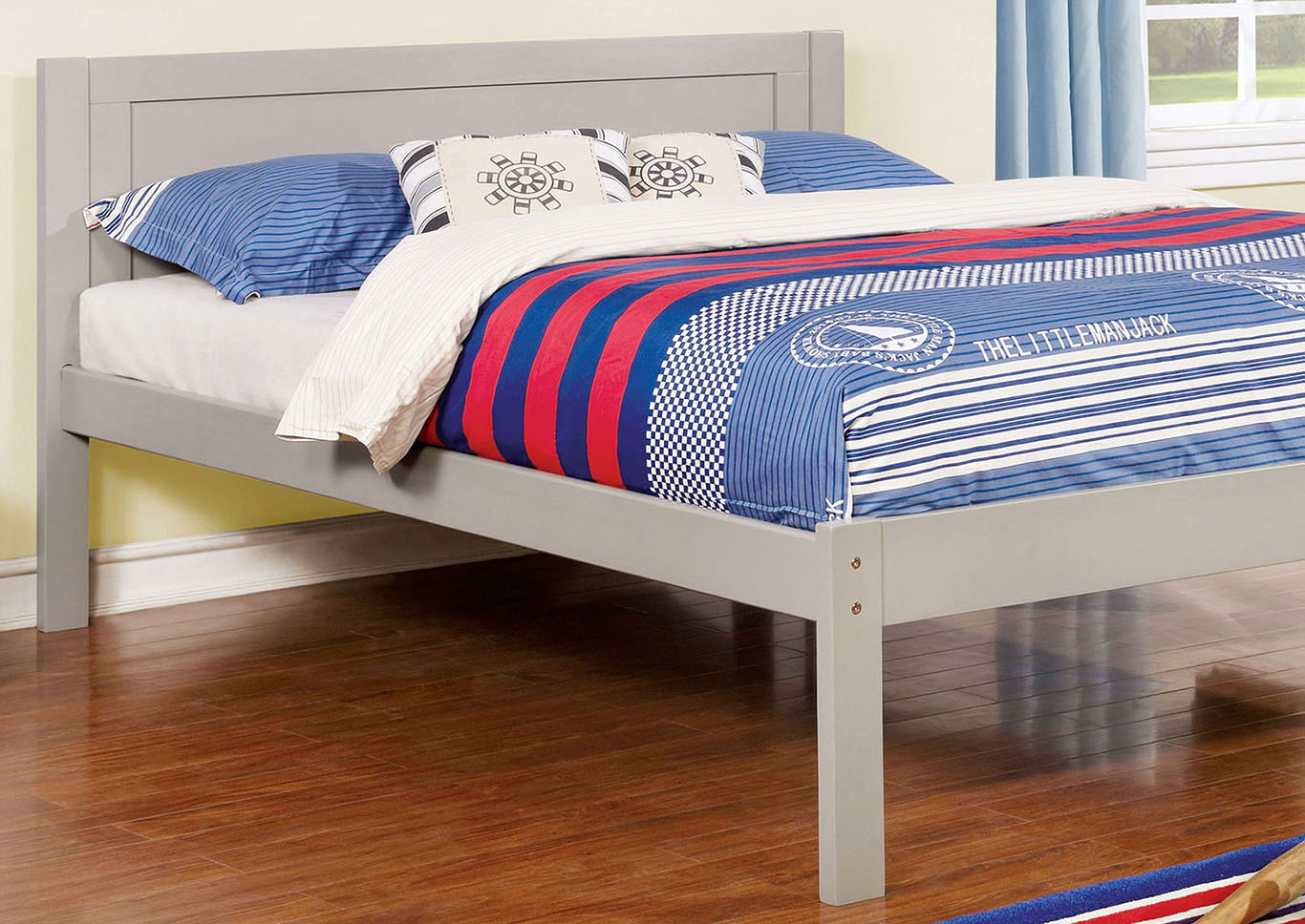 Annemarie Gray Full Platform Bed,Furniture of America