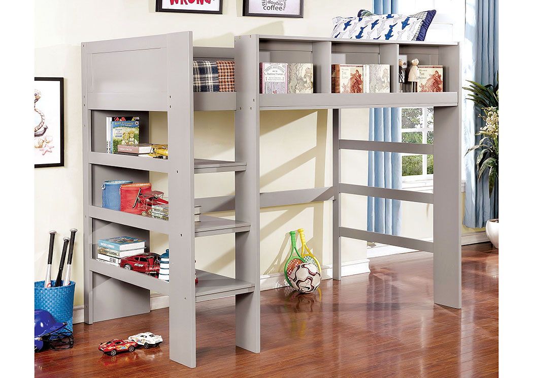 Annemarie Gray Twin Loft Bed,Furniture of America