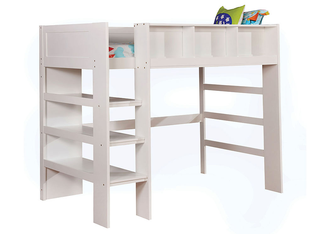 Annemarie White Twin Loft Bed,Furniture of America