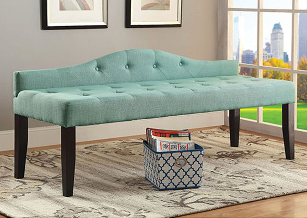 Alipaz Blue Large Bench,Furniture of America