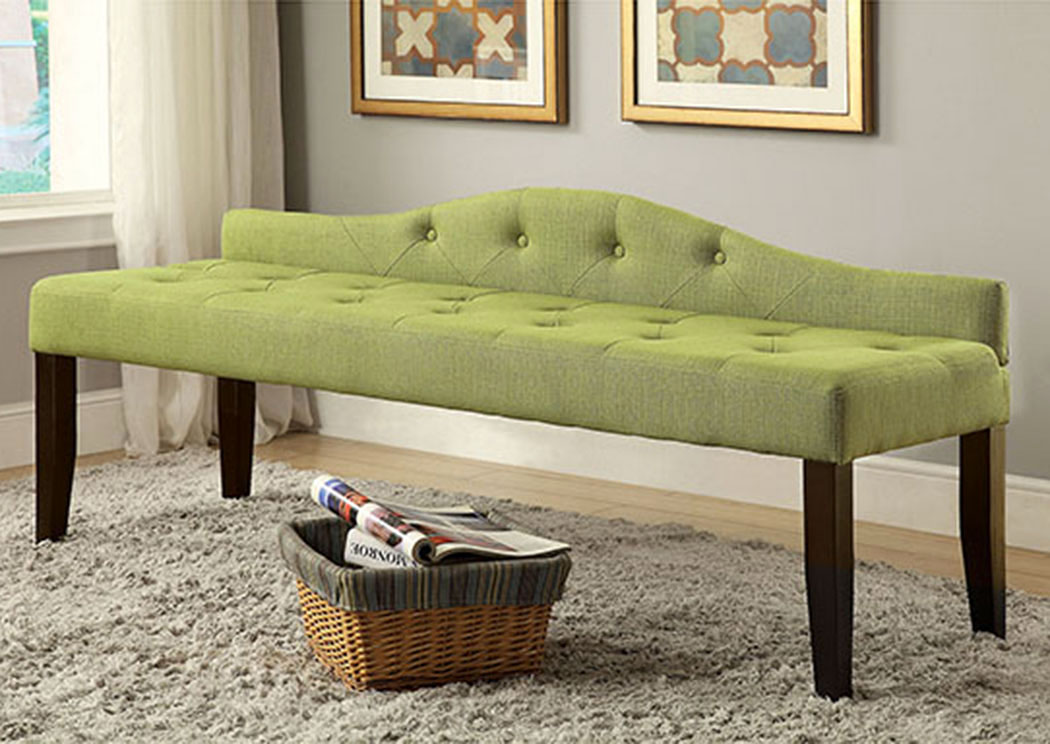 Alipaz Green Large Bench,Furniture of America