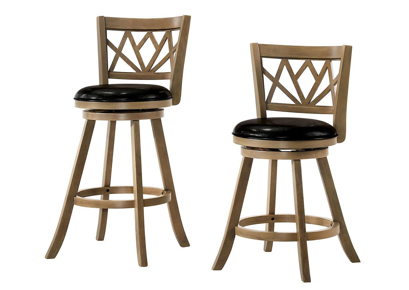 Just Furniture Dazey Oak 24 Swivel Barstool Wpadded Seat