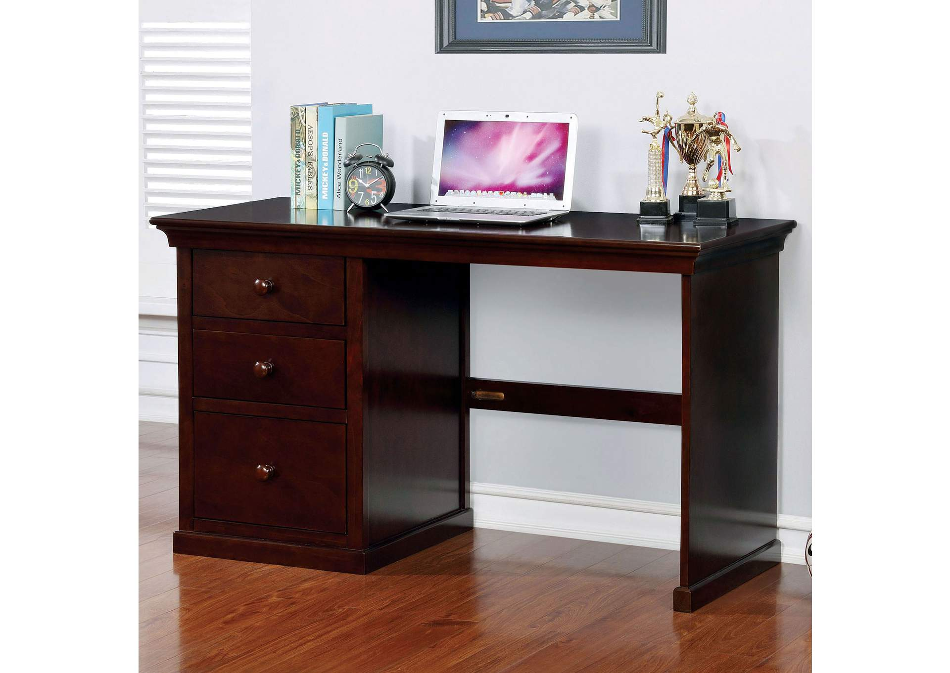Dede Dark Walnut 37' Desk,Furniture of America