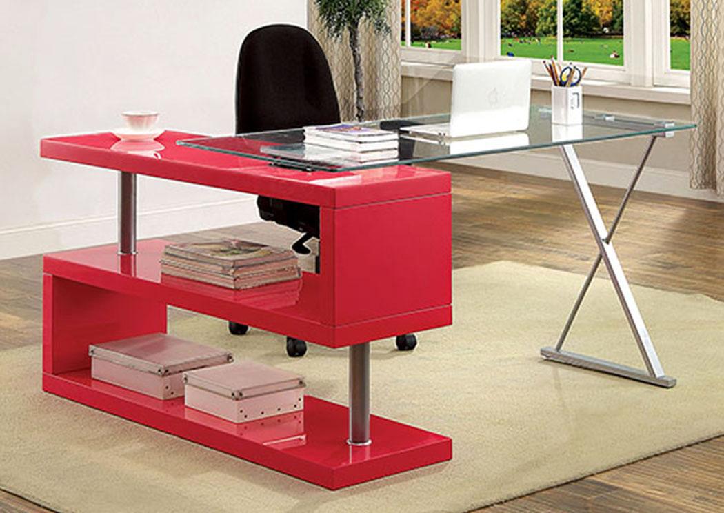 Long Island Discount Furniture Bronwen Rose Pink Desk