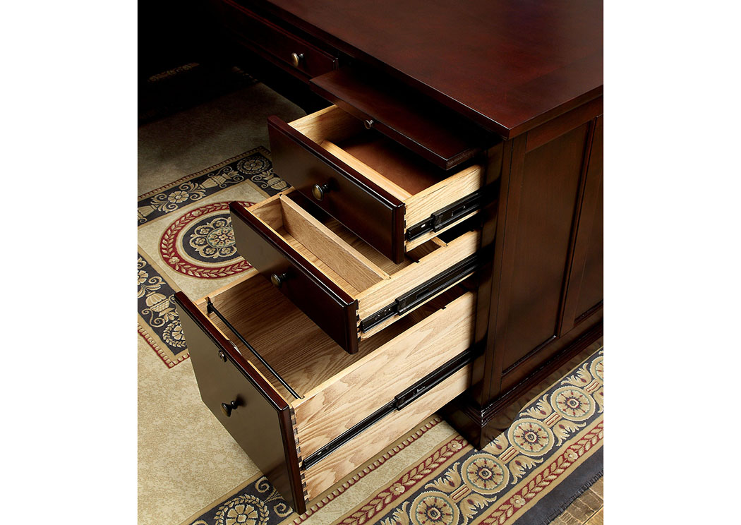 Desmont Cherry Corner Desk,Furniture of America