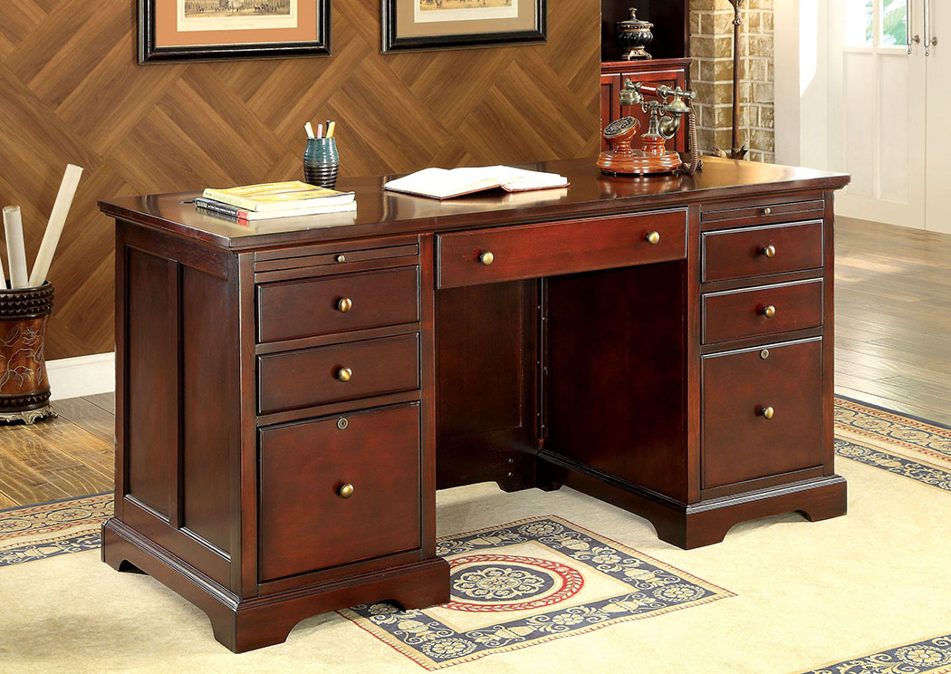 Desmont Cherry Office Desk,Furniture of America