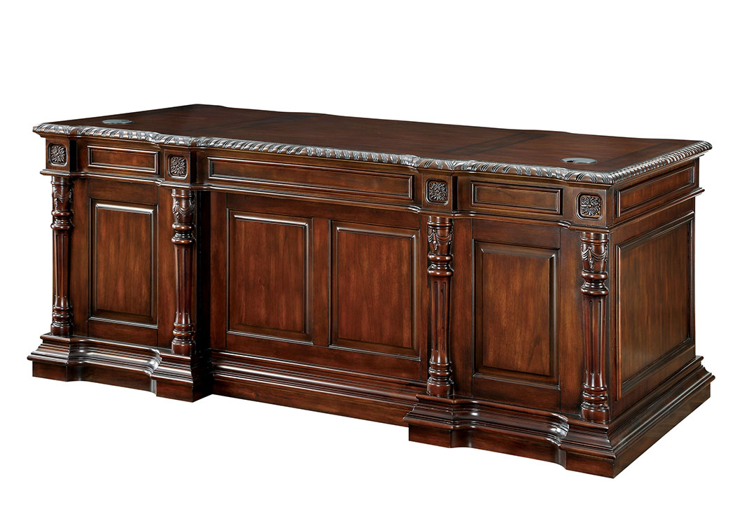 Roosevelt Cherry Office Desk,Furniture of America