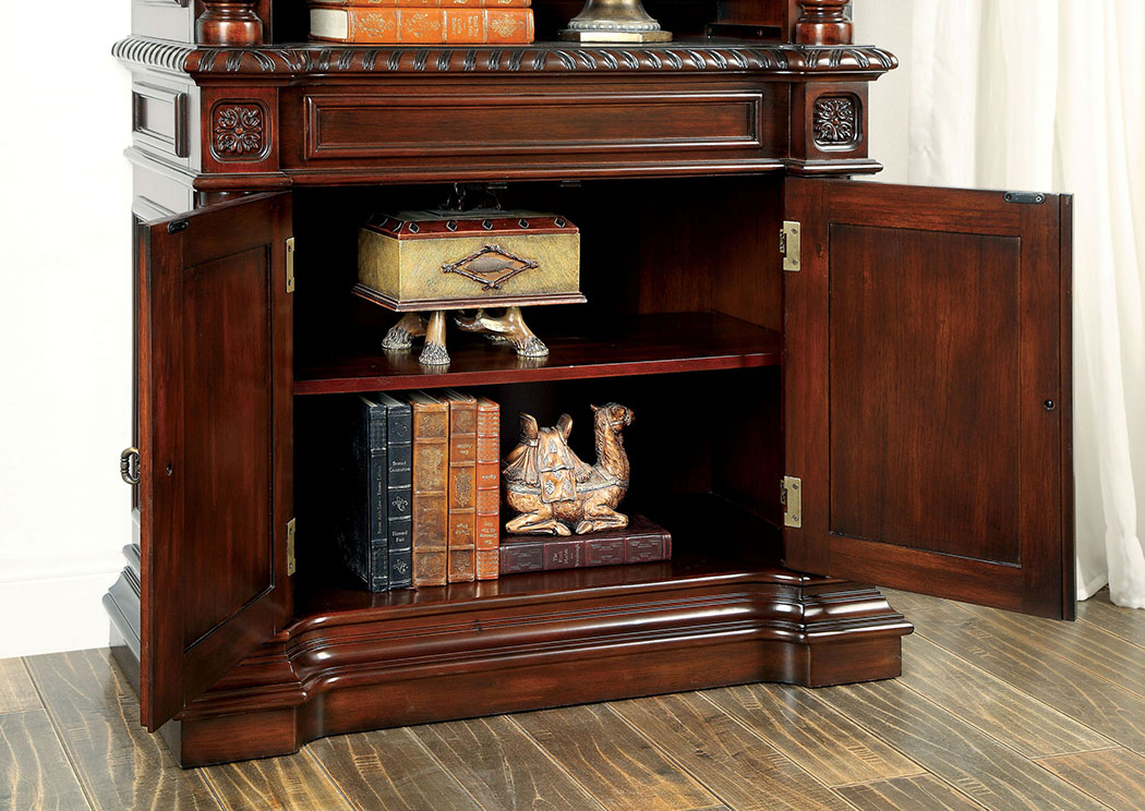 Roosevelt Cherry Book Shelf,Furniture of America