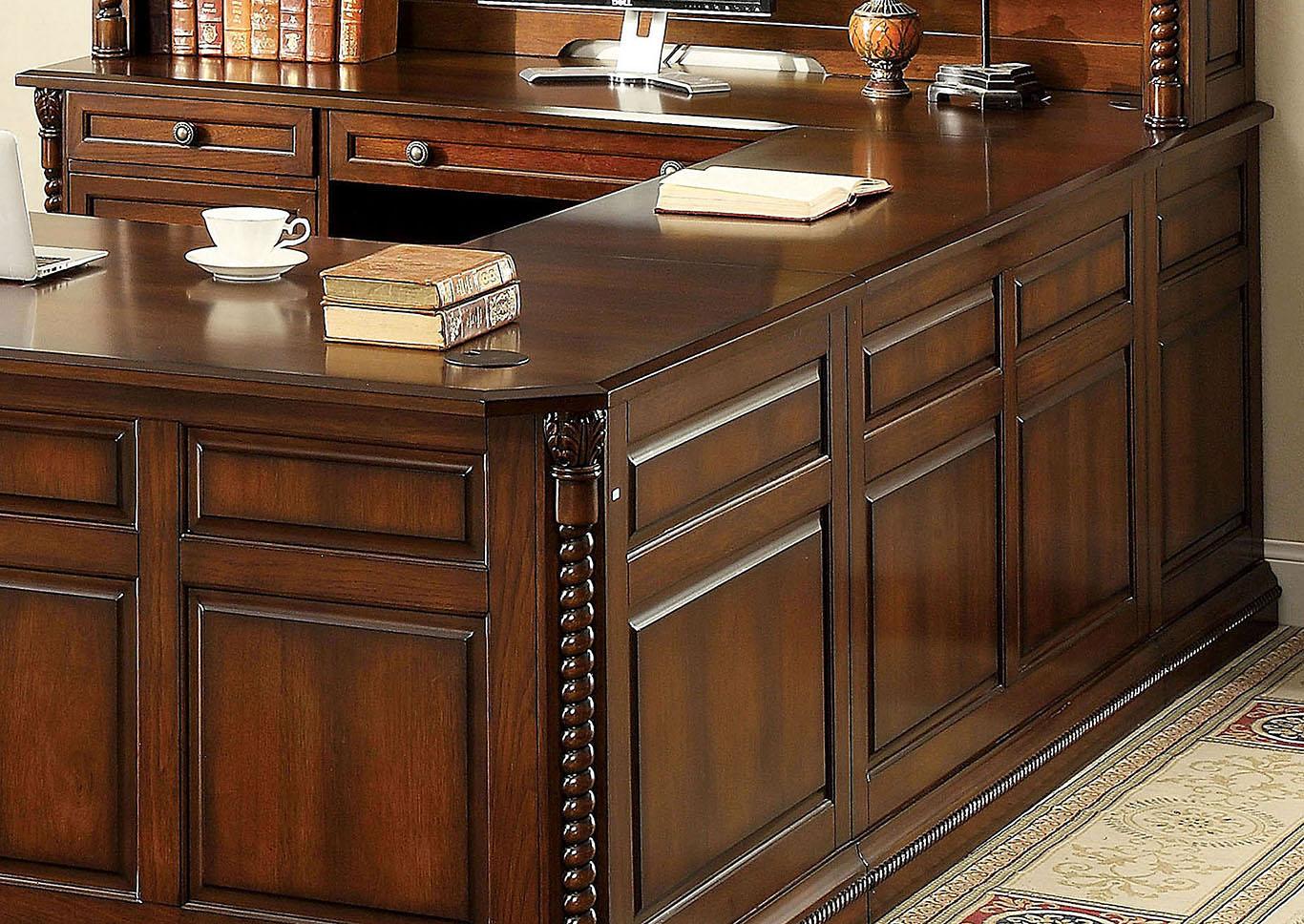 Credenza Dark : Max five star furniture lavinia dark oak credenza desk