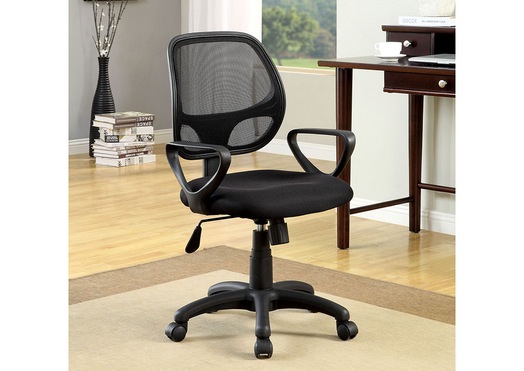 Sherman Black Mesh Office Chair w/Adjustable Height,Furniture of America