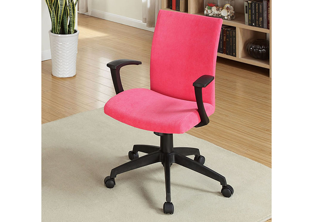 Crofter Red Swivel Office Chair W/Armrests,Furniture Of America