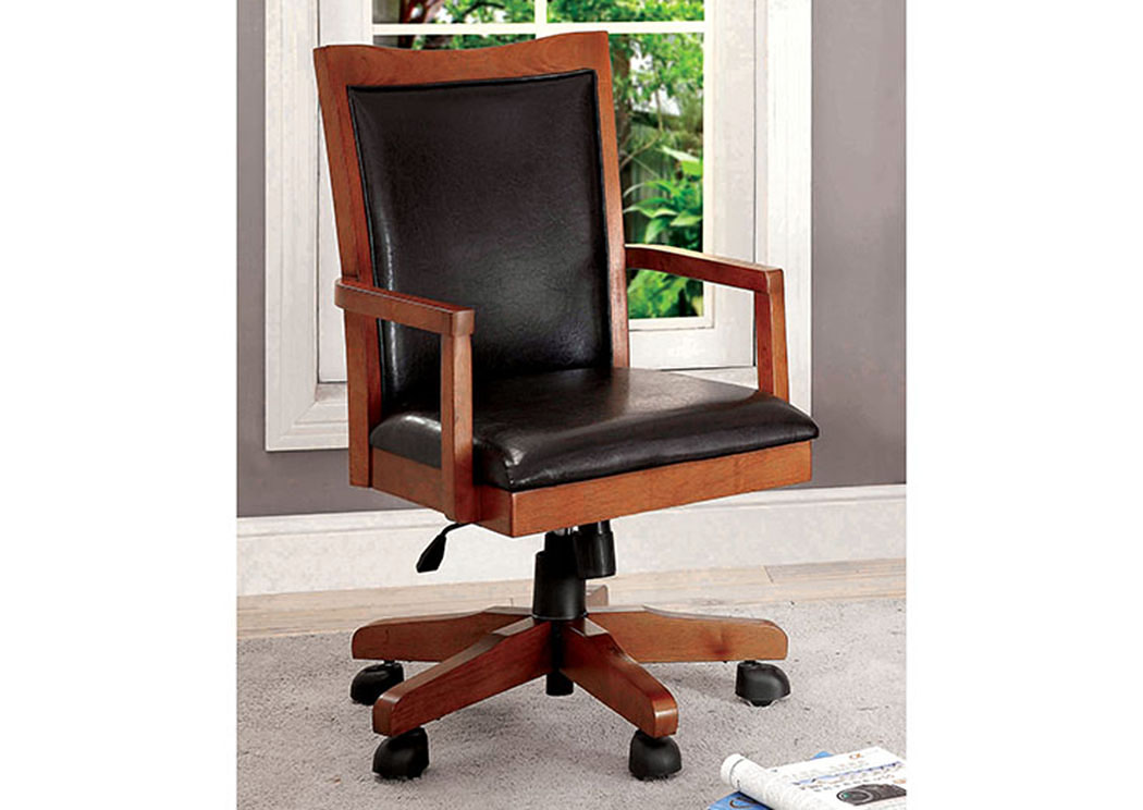 Rhonda Oak Height Adjustable Office Chair,Furniture of America