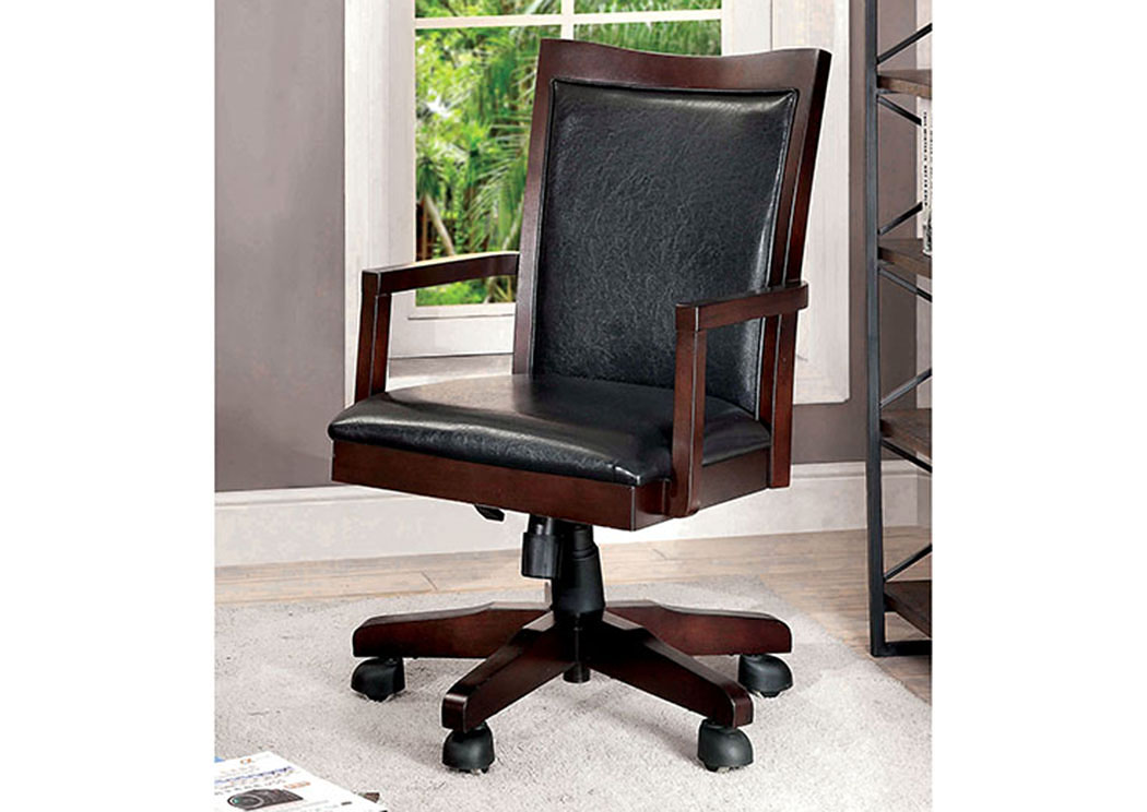 Rhonda Dark Walnut Height Adjustable Office Chair,Furniture of America