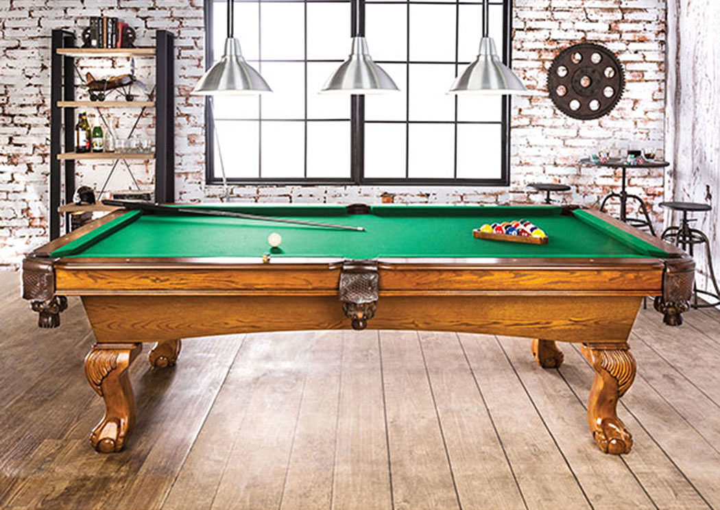 Kensington Furniture Gondomar Antique Oak Pool Table Set - Kensington pool table