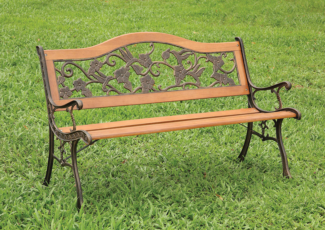 Havasu Light Brown Patio Bench,Furniture of America