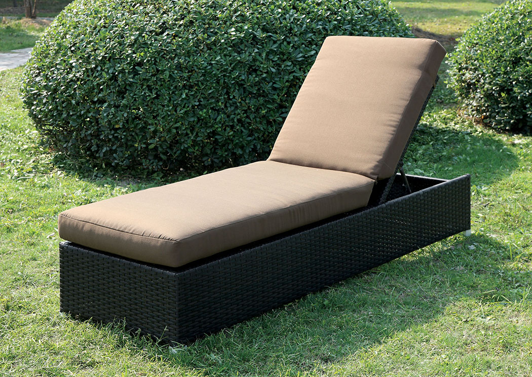 Albee Brown/Espresso Patio Chaise,Furniture of America
