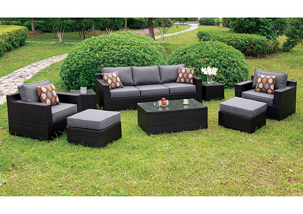 Helina Gray 8 Piece Patio Sofa Set,Furniture of America
