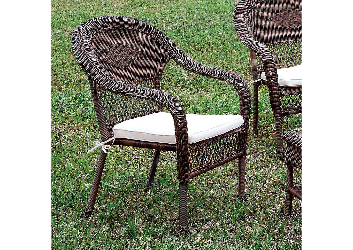 Olina Brown Wicker Patio Chair,Furniture of America