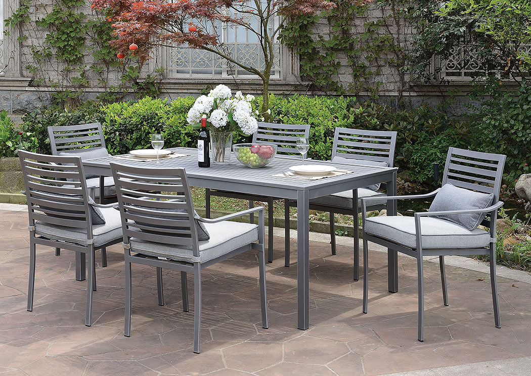 Colome Gray Patio Dining Table,Furniture of America