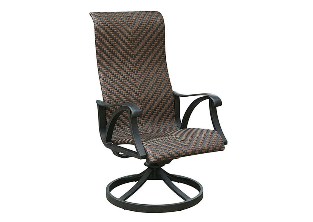 Chiara Wicker Swivel Rocker Chair (Set Of 2),Furniture Of America