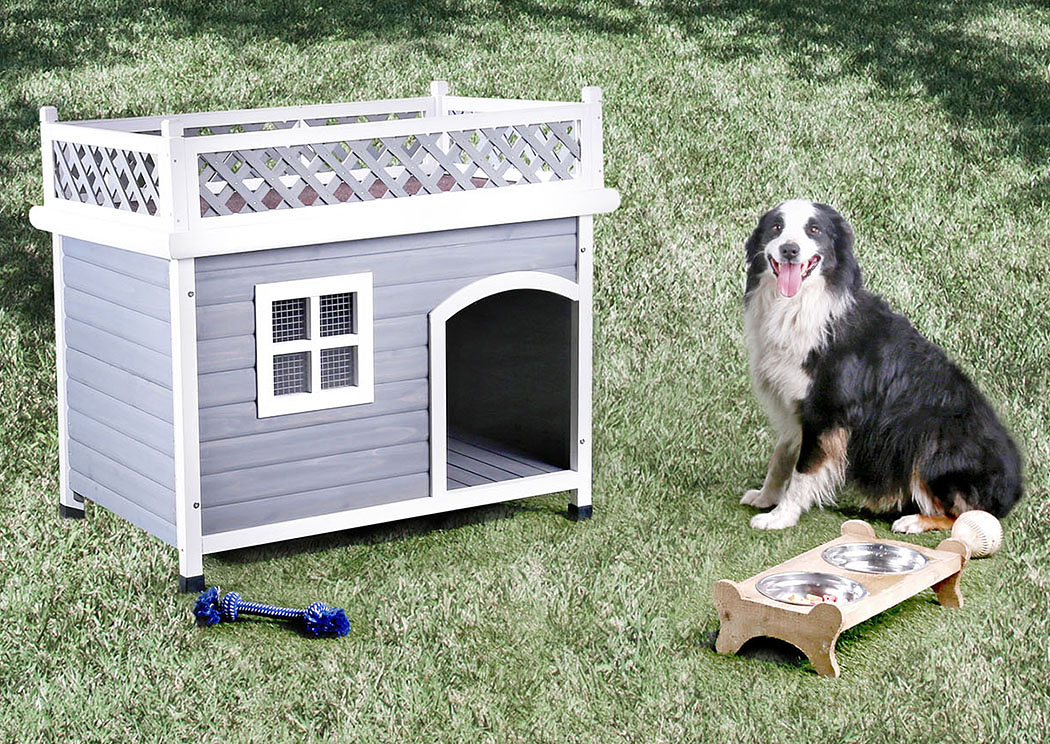 Cayuga White/Gray Pet House,Furniture of America