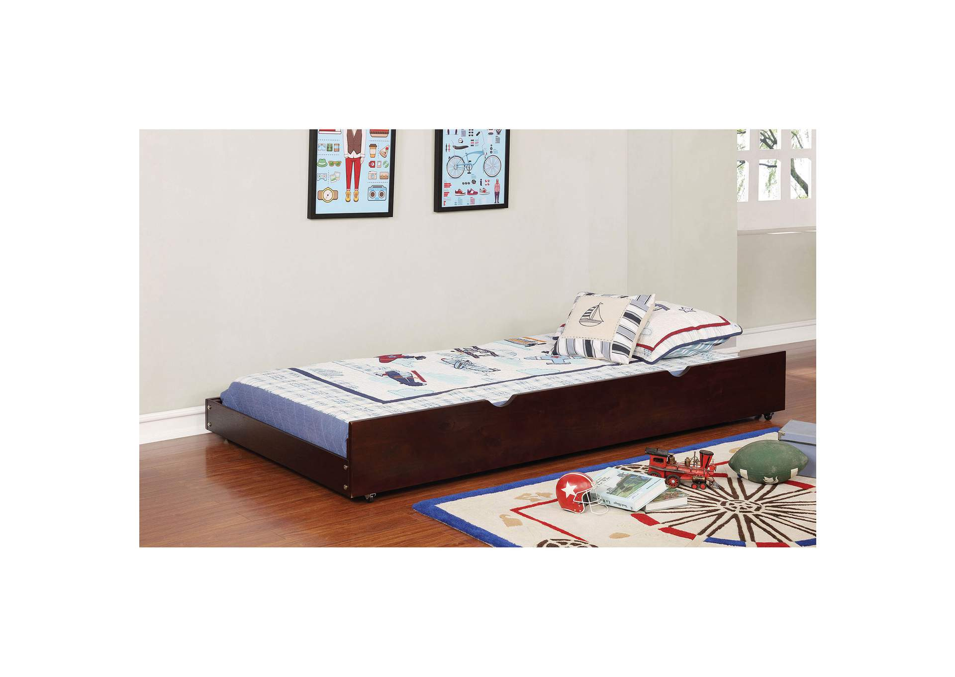 Omnus Dark Walnut Large Trundle,Furniture of America